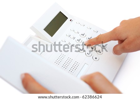 Office phone - stock photo