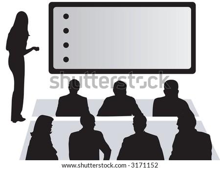 Office Presentation Bullet Points - stock photo
