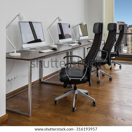 Office space with working places - stock photo