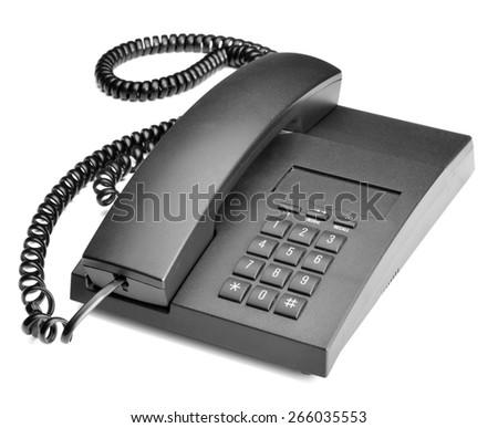 office telephone isolated on white - stock photo