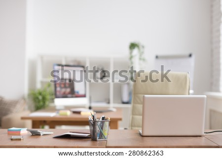 Office workplace with nobody - stock photo