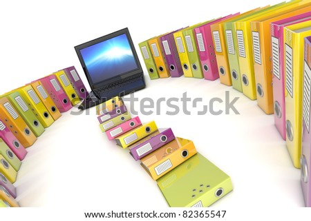 Office workstation - stock photo