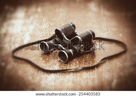 Officer binoculars since the Second World War - stock photo