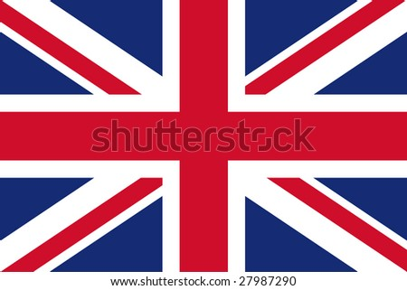 official flag of great britain - stock photo