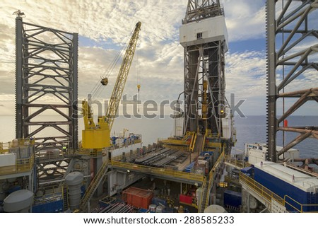 Offshore Jack Up oil Rig. - stock photo
