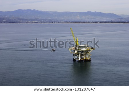 Offshore Oil Drilling Platform - stock photo