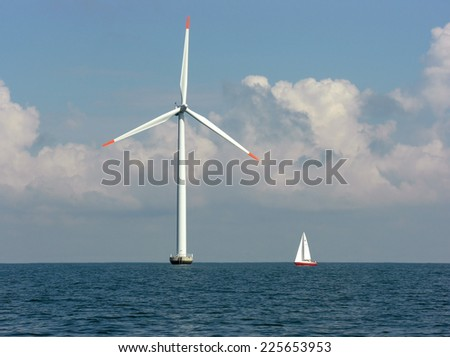 Offshore Wind farm - stock photo