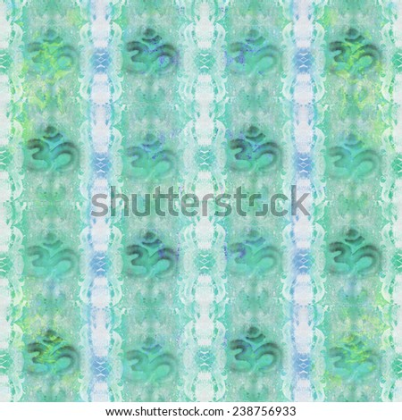 Ohm. Om Aum Symbol pattern - stock photo