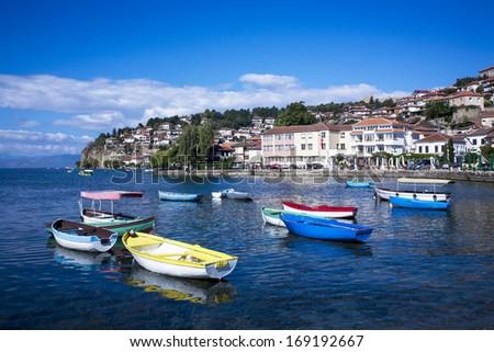 Ohrid panorama - stock photo