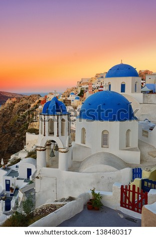 Oia Santorini Greece  - stock photo