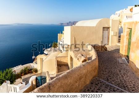 Oia village, Santotini, Greece - stock photo