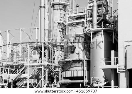 Oil and gas industry - stock photo