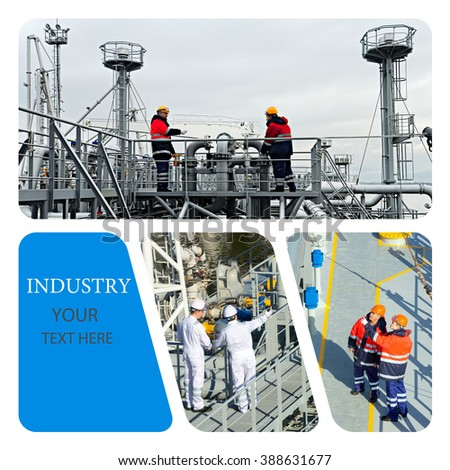 Oil And Gas Industry. Industrial. Industrial concept. Industrial photo collage - stock photo