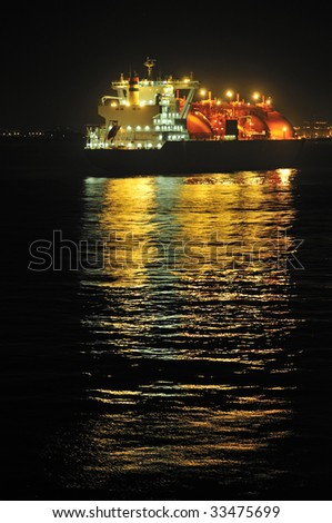Oil and gas industry â?? liquefied natural gas tanker LNG - stock photo