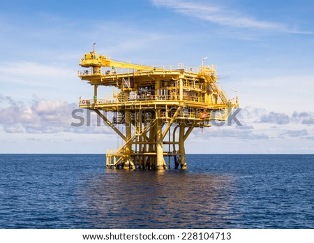 Oil and gas platform - stock photo