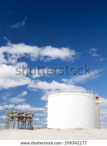 Oil and gas refinery. Oil field - stock photo