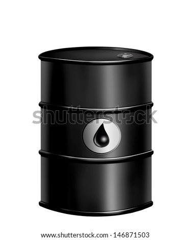 oil barrel drum - stock photo