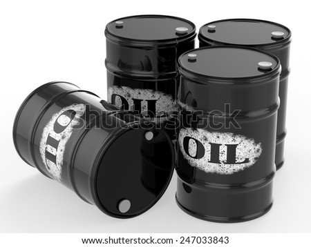 oil barrels - stock photo