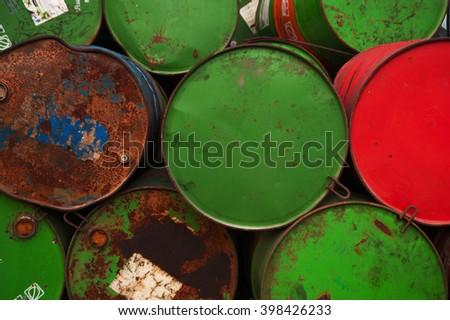 Oil barrels - stock photo
