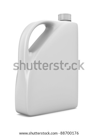 oil bottle on white background. Isolated 3D image - stock photo