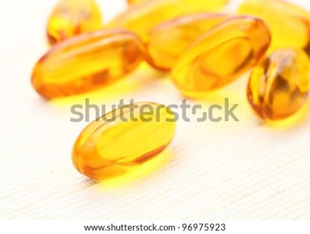 Oil Capsules - stock photo
