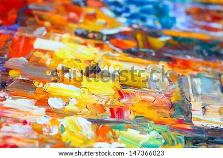 Oil color - stock photo