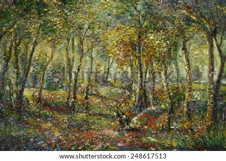 Paint Colors Thailand Oil Color Painting on Canvas