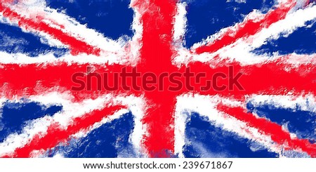 oil color united kingdom flag  - stock photo