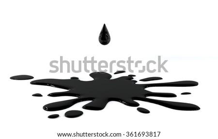 Oil Drop  - stock photo