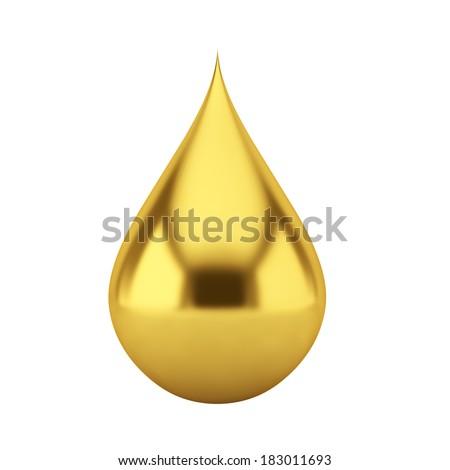 Oil drop. 3d illustration on white background  - stock photo