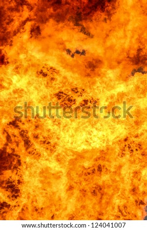oil fire - stock photo