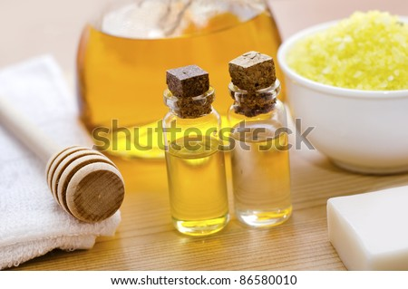 oil for body - stock photo