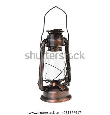 oil garden lamp isolated on white - stock photo