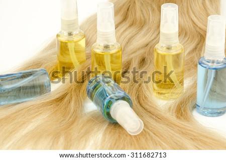 Oil hair care - stock photo