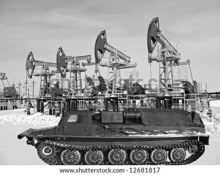 Oil industry. Construction and equipment. - stock photo