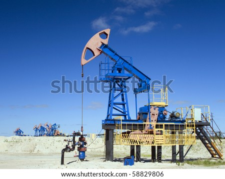 Oil industry in work - stock photo