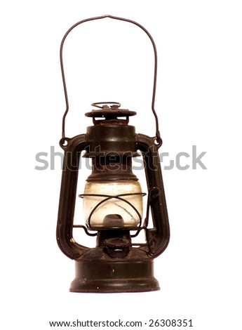 oil lantern - stock photo