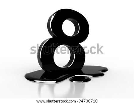 oil 8 number - stock photo