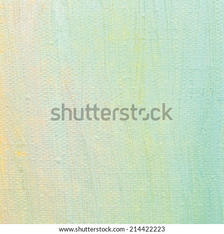 Oil paint background, bright ultramarine blue, yellow, pink, turquoise, large brush strokes painting detailed textured pastel colors macro closeup, vertical texture pattern, old aged scratched canvas - stock photo