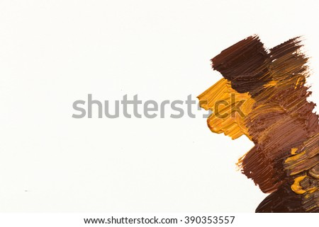Oil paint stains - stock photo