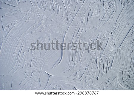 Oil paints on a palette. white and grey background. - stock photo