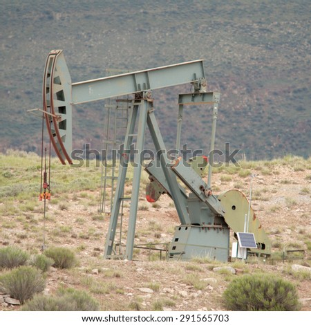Oil production - stock photo