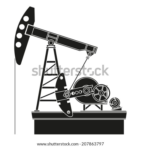Oil pump - stock photo