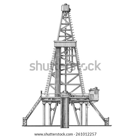 oil pump on a white background. sketch - stock photo