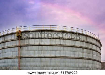 Oil refinery factory plant or chemical  industrial and oil tank.       - stock photo