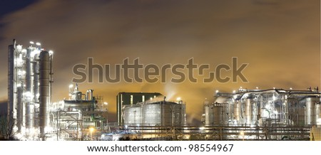 Oil-refinery plant - stock photo