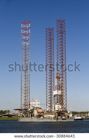 Oil rig - stock photo