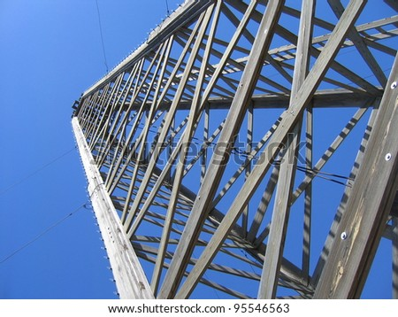 oil rig and tower in texas - stock photo