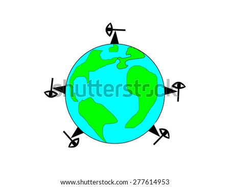 Oil rigs are all over the world - stock photo