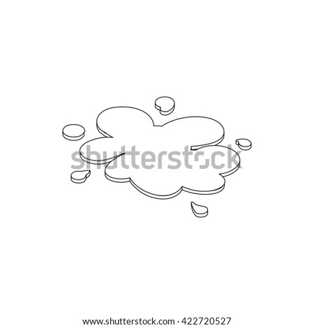 Oil spill icon, isometric 3d style - stock photo